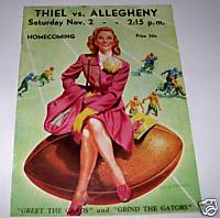 1946 Thiel & Allegheny College Homecoming Football Program