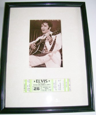 Elvis Presley Concert Ticket - Sept 26 1977 - ISU Cancelled