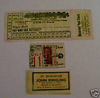 Barnum & Bailey + RB B&B Circus Tickets & Death Notice