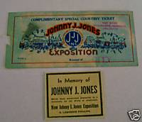 Johnny J Jones Exposition Circus Ticket & Death Notice