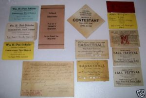 Mt Vernon Tell City & Posey County IN 1935 Memorabilia Lot