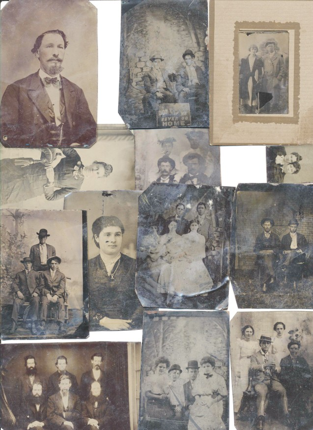 Tintype Lot - Men, Women, Children - 13 Tin Types - Rare Poses