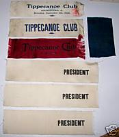 1901-08 Youngstown OH Tippecanoe Club Ribbon Lot Of 7