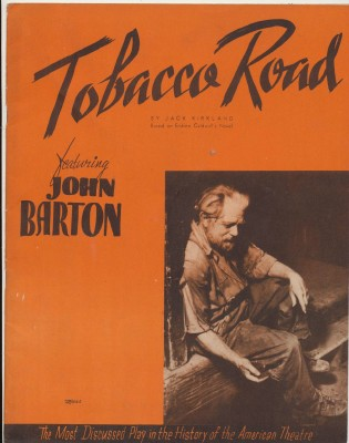 1940 Broadway Theater Souvenir Program - Tobacco Road