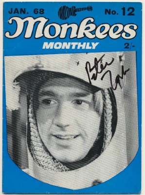 January 1968 Monkees Monthly - Peter Tork Autographed