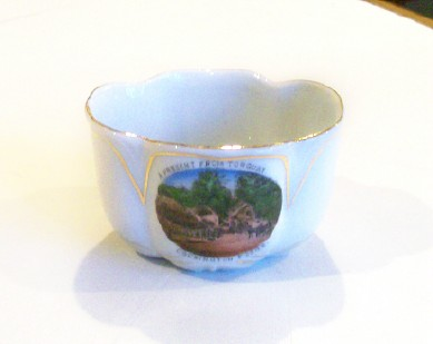 Cockington Forge Torquay England Souvenir China Bowl
