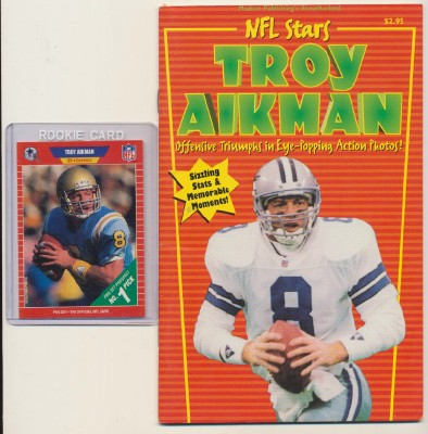 Troy Aikman Book + Trading Card