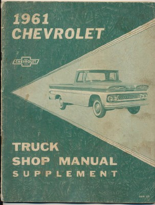 1961 Chevrolet Truck Shop Manual Supplement