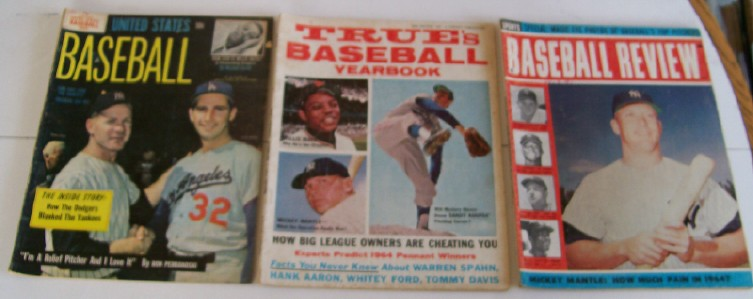 1964 Baseball Yearbook & Baseball Review Lot