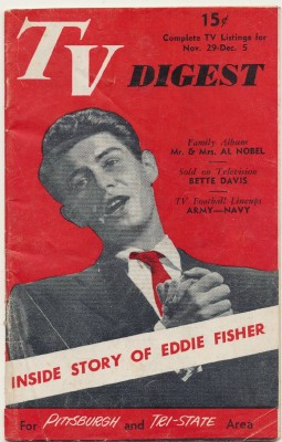 November 29 1952 TV Digest Pgh TV Listings - Eddie Fisher