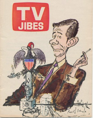 1970s TV Jibes-TV Guide's Best TV Cartoons-Johnny Carson Cover
