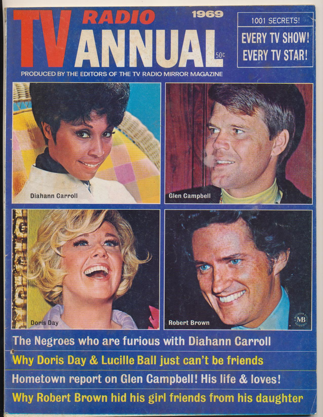 1969 TV Radio Annual - Lucy Doris Laugh-In Smothers +++