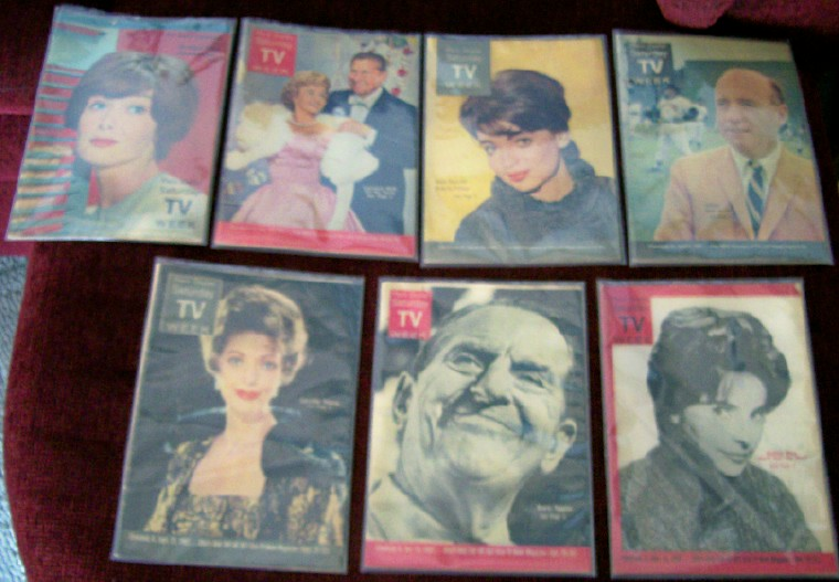 Lot Of 1960s TV Week Newspaper Insert Program Guides
