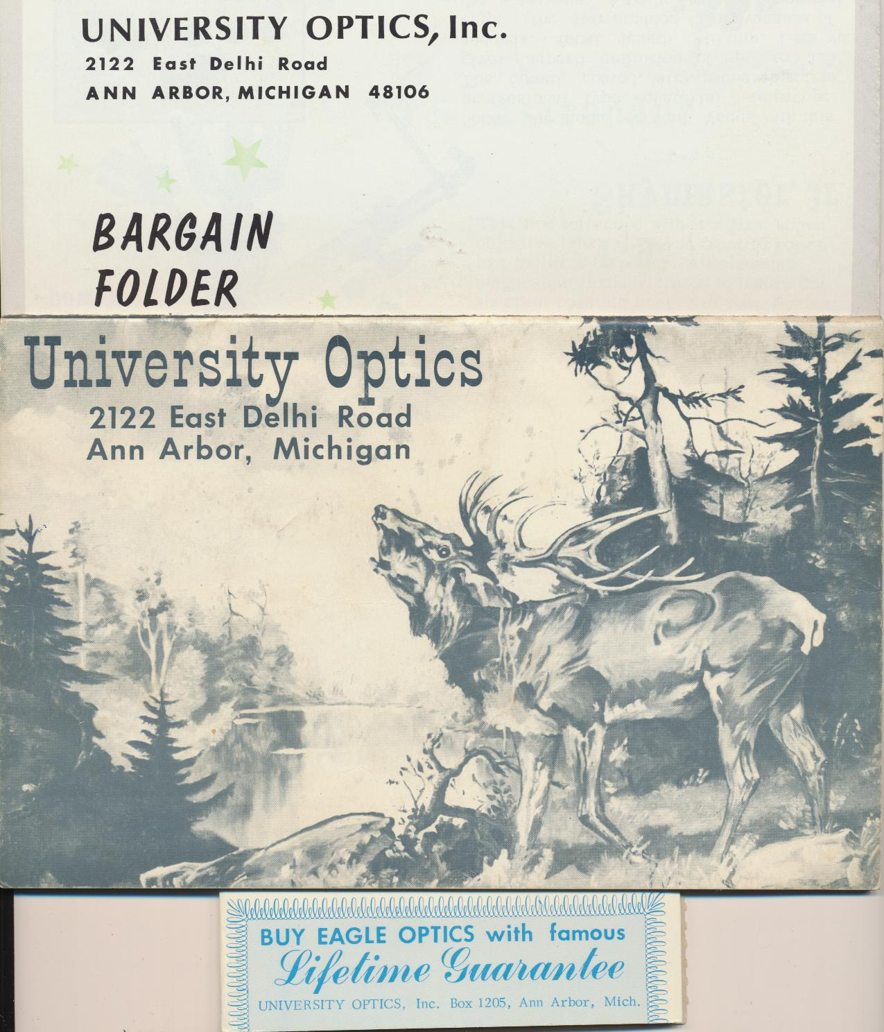 60s University Optics Dealer Catalog Telescopes Rifle Scopes ++