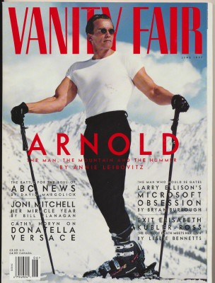 June 1997 Vanity Fair - Arnold Schwarzenegger Cover