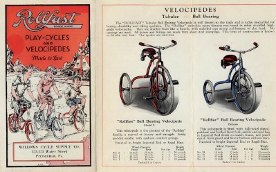 Vintage 1910s Rollfast Velocipede & PlayCycle Advertise Brochure