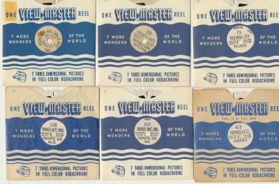 Lot Of Vintage View-Master Reels With Hand-Lettered Titles