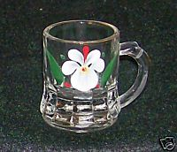Handpainted Violet Or Pansy Mini Mug Shot Glass Or Toothpick