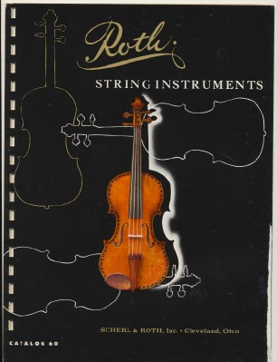 Vintage 1959 Roth Violin & String Instruments Catalog