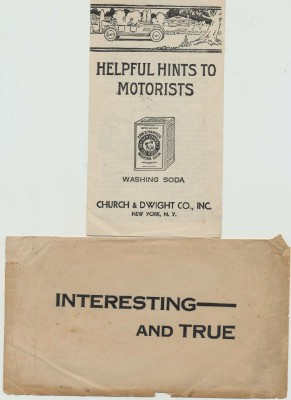1922 Church & Dwight Arm & Hammer Washing Soda Adver Brochure