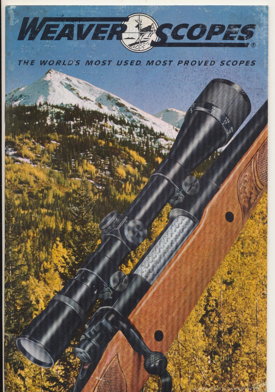 1966 Weaver Rifle Scopes Dealer Trade Catalog
