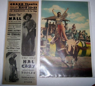 Gene Autry Co-Star Poster + Dorsey Trick Rider Giant PC