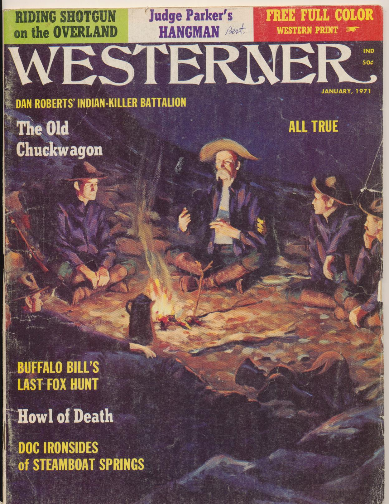 January 1971 Westerner - Buffalo Bill John Wesley Hardin ++