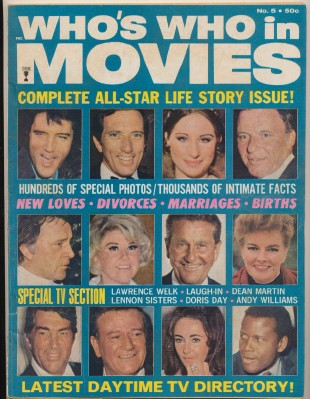 1970 Who's Who In Movies #5 - John Wayne Liz Taylor Elvis +