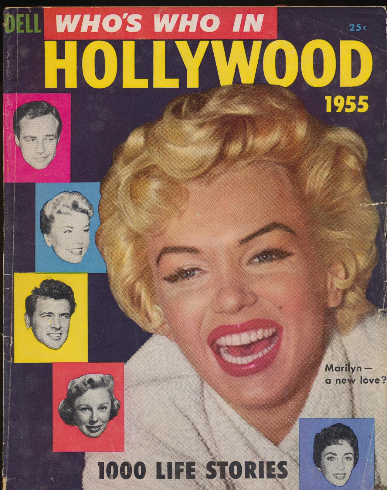 1955 Who's Who In Hollywood - Marilyn Monroe Cover