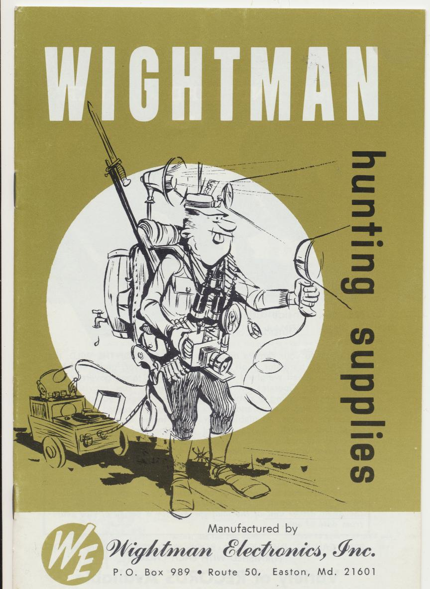 1960s Wightman Hunting Supply Catalog Game Calls Decoys ++