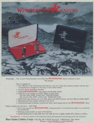 Winchester The Scouts Commemorative Knife Set Adv Brochure