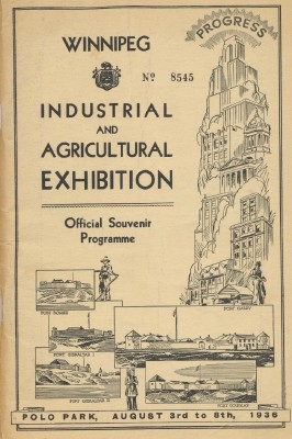 1936 Winnipeg Canada Industrial/Agricultural Exhibition Program