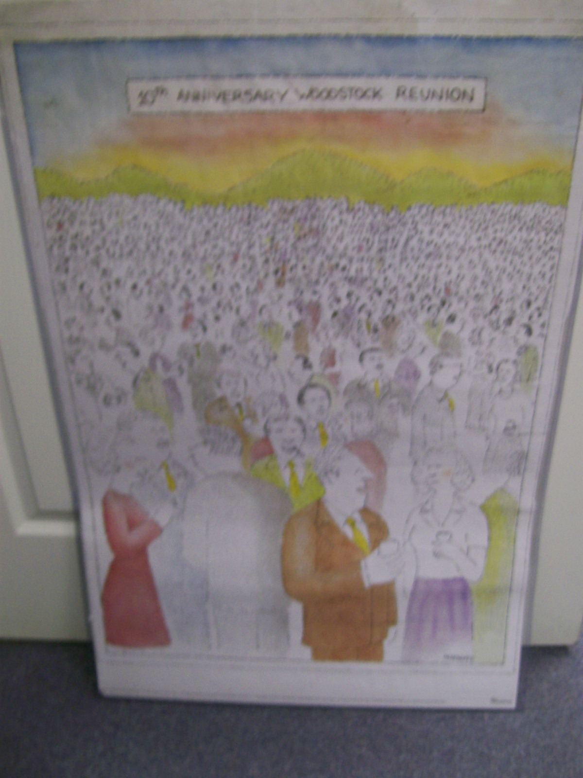 10th Anniversary Woodstock Reunion Poster 1979 Mankoff