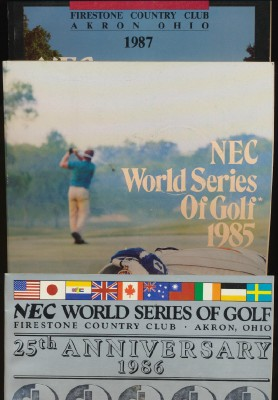 1985 1986 1987 NEC World Series Of Golf Programs