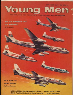 October 1956 Young Men Magazine - Model Boat & Model Airplane