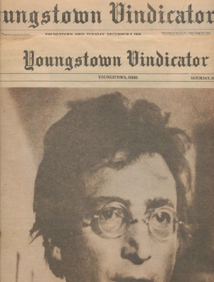 John Lennon Assassination Youngstown OH Newspaper/Supplement