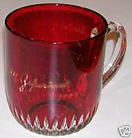 1898 Nillir M Zepernick Ruby Flash Glass Cup